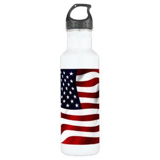 Patriotic American Flag Water Bottle