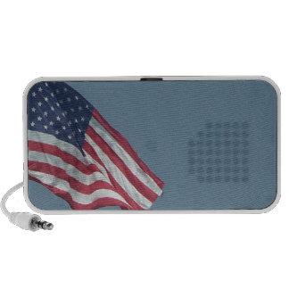 Patriotic American Flag Waving in the Wind Laptop Speaker