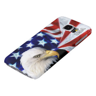 Patriotic American Flag with Bald Eagle - USA!