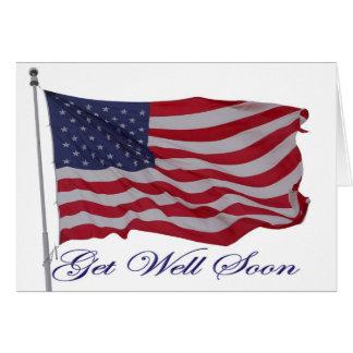 Patriotic american get well card