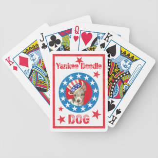 Patriotic American Hairless Terrier Bicycle Playing Cards