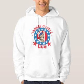 Patriotic American Hairless Terrier Hoodie