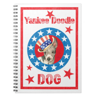 Patriotic American Hairless Terrier Notebook