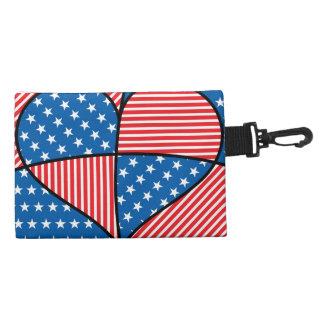 Patriotic American hearts Accessories Bag