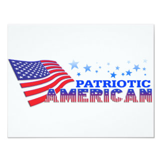 Patriotic American Invitation