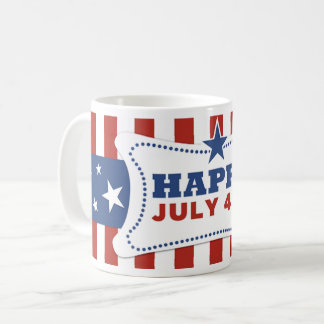 Patriotic American July 4th independence day mug