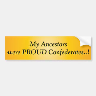 Patriotic American Proud Confederate Southerner Bumper Sticker