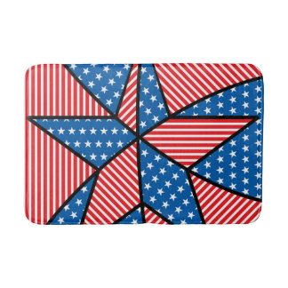 Patriotic American star Bath Mats