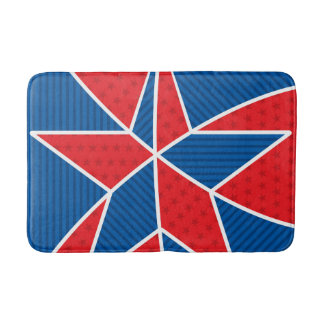 Patriotic American star Bath Mats