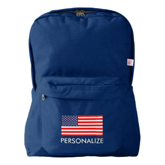 Patriotic American US flag custom school backpack