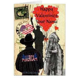 Patriotic american Valentine's day Greeting Cards
