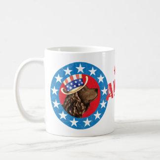 Patriotic American Water Spaniel Coffee Mug