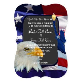 Patriotic American wedding Card