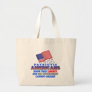 Patriotic Americans Big Government Tote Bag