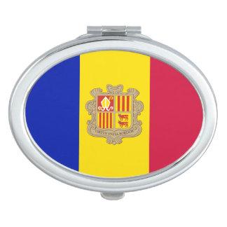 Patriotic Andorra Flag Compact Mirrors