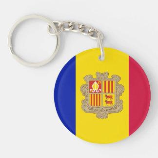 Patriotic Andorra Flag Key Ring