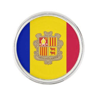 Patriotic Andorra Flag Lapel Pin