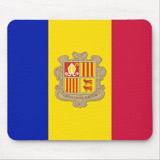 Patriotic Andorra Flag Mouse Pad