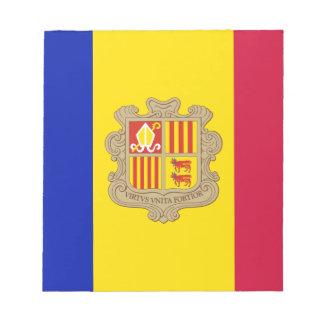 Patriotic Andorra Flag Notepad
