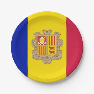 Patriotic Andorra Flag Paper Plate