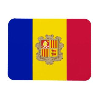 Patriotic Andorra Flag Rectangular Photo Magnet