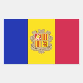 Patriotic Andorra Flag Rectangular Sticker