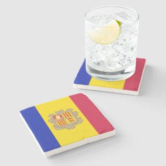 Patriotic Andorra Flag Stone Coaster