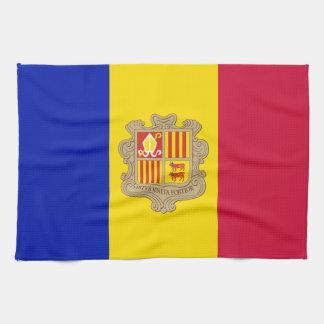 Patriotic Andorra Flag Tea Towel