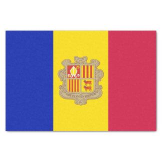 Patriotic Andorra Flag Tissue Paper