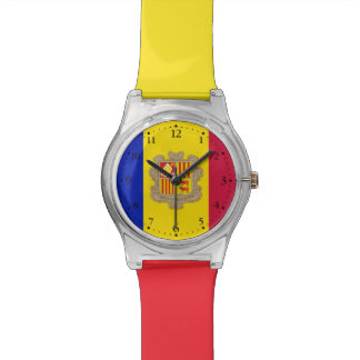 Patriotic Andorra Flag Watch