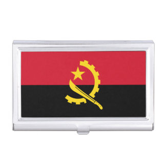 Patriotic Angolan Flag Business Card Holder