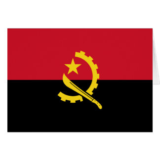 Patriotic Angolan Flag Card