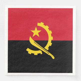 Patriotic Angolan Flag Disposable Serviettes