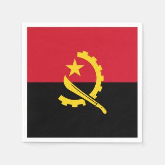 Patriotic Angolan Flag Paper Napkins