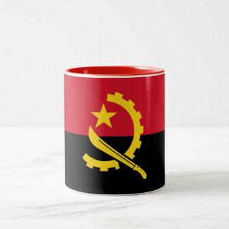 Patriotic Angolan Flag Two-Tone Coffee Mug