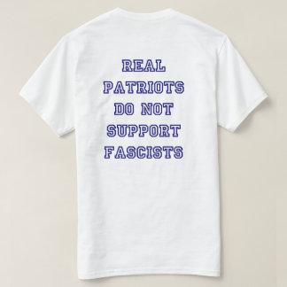Patriotic Anti-Fascism Blue Font T-Shirt