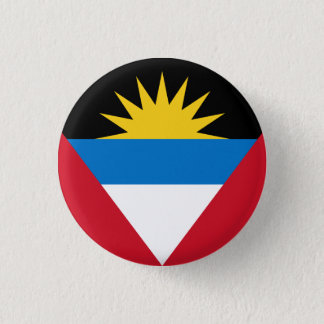 Patriotic Antigua and Barbuda Flag 3 Cm Round Badge