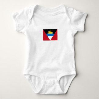 Patriotic Antigua and Barbuda Flag Baby Bodysuit