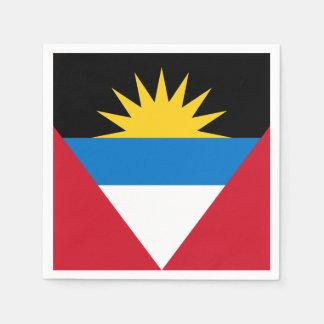 Patriotic Antigua and Barbuda Flag Disposable Napkins
