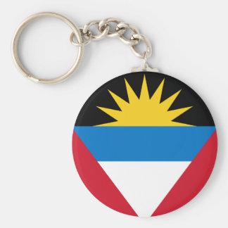 Patriotic Antigua and Barbuda Flag Key Ring