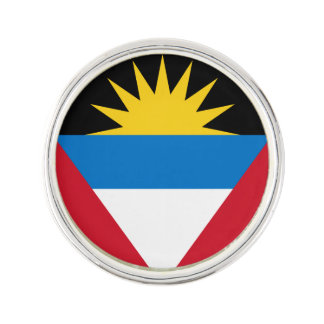 Patriotic Antigua and Barbuda Flag Lapel Pin