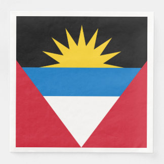 Patriotic Antigua and Barbuda Flag Paper Napkins