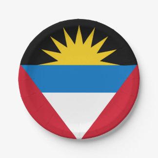 Patriotic Antigua and Barbuda Flag Paper Plate