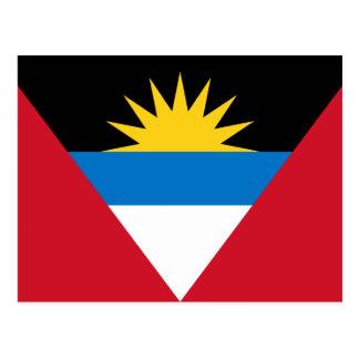 Patriotic Antigua and Barbuda Flag Postcard