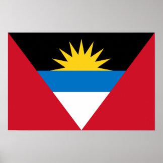 Patriotic Antigua and Barbuda Flag Poster