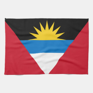 Patriotic Antigua and Barbuda Flag Tea Towel