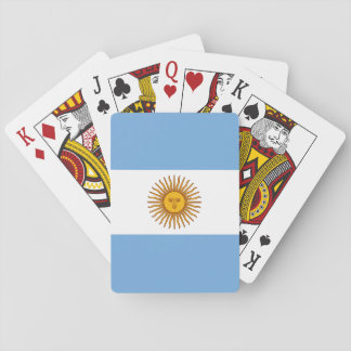 Patriotic Argentinian Flag Playing Cards