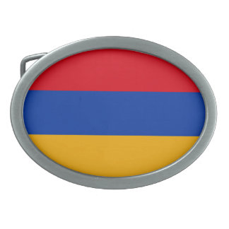Patriotic Armenia Flag Oval Belt Buckle