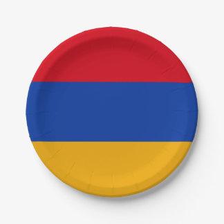 Patriotic Armenia Flag Paper Plate