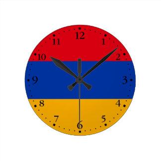 Patriotic Armenia Flag Round Clock